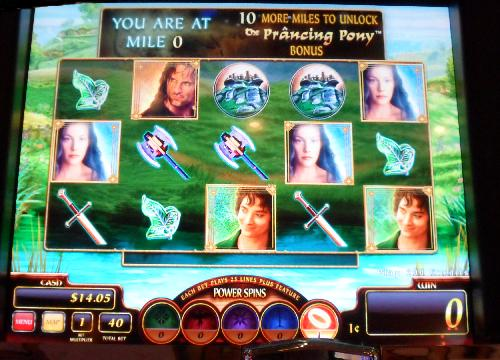 Lord of the Rings Slot Machine screen view