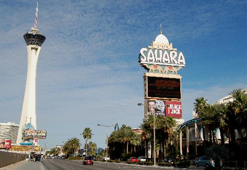 Stratosphere and Sahara sign