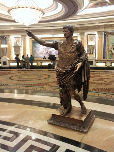 caesar in the lobby