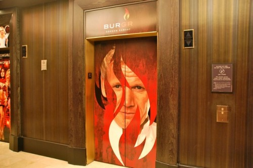 Burgr wrap on elevator at PH