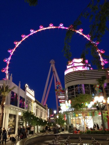 High Roller at night
