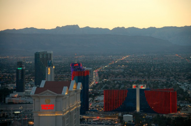 View of Las Vegas from High Roller