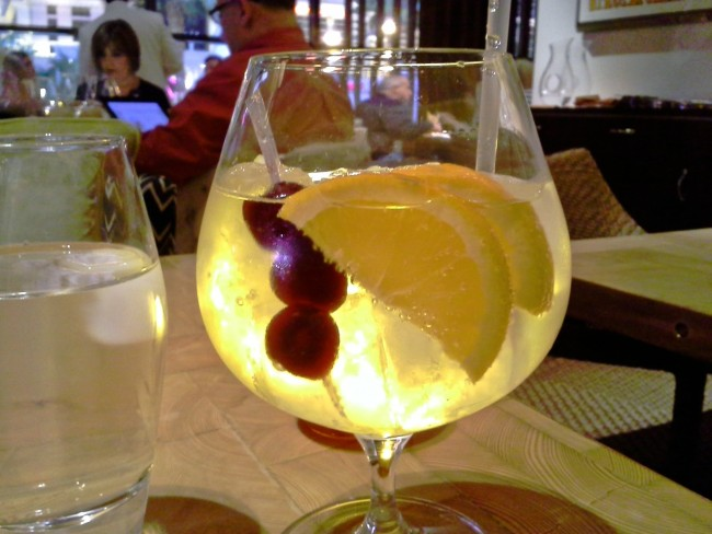 Excellent, made-to-order sangria.